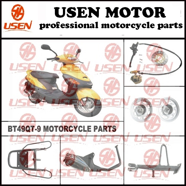 BT49QT-9 GY6 50cc Scooter Parts